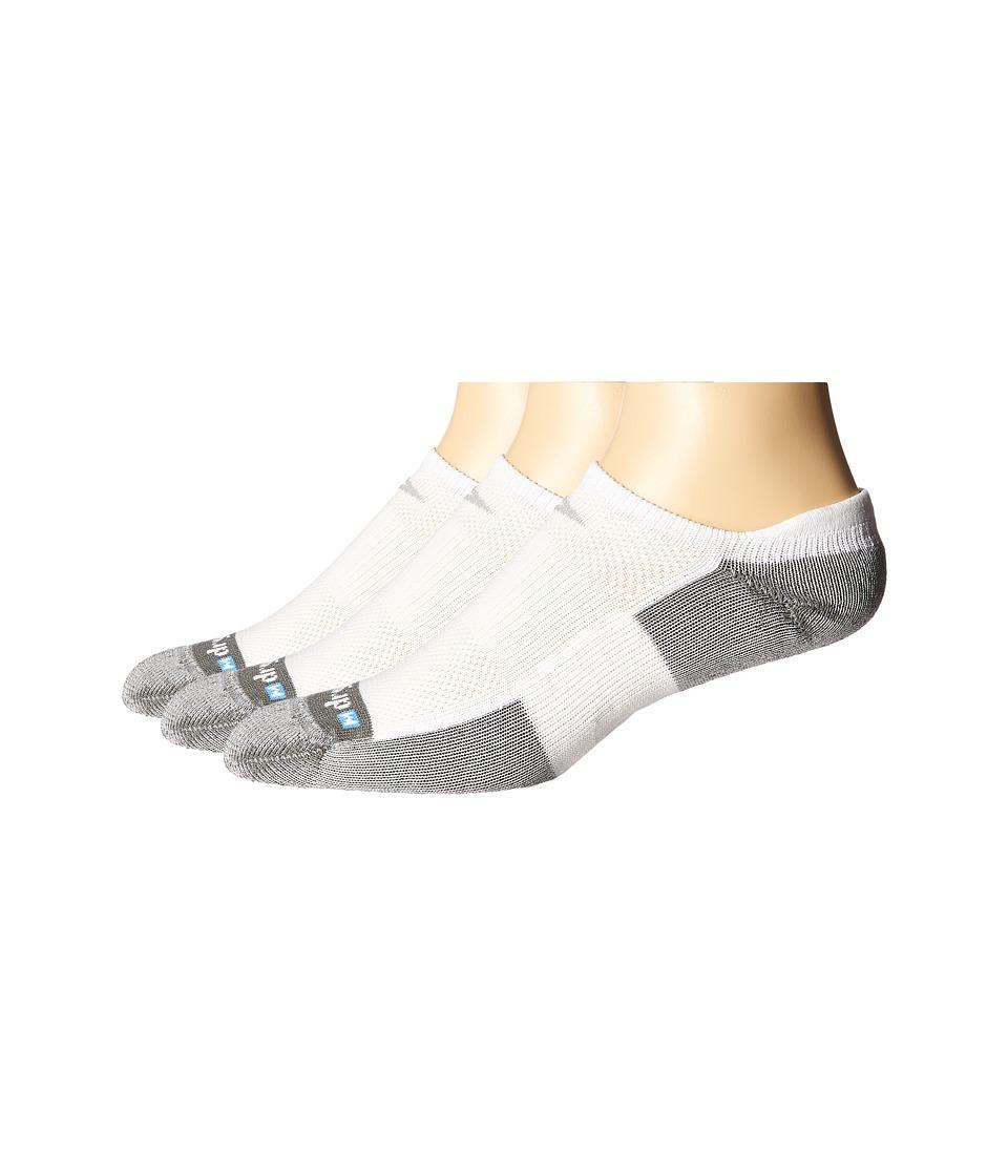 Drymax Sport - Tennis No Show Tab 3-Pair Pack (White/Grey) No Show Socks Shoes
