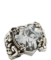 King Baby Studio - Clear CZ Heart Ring