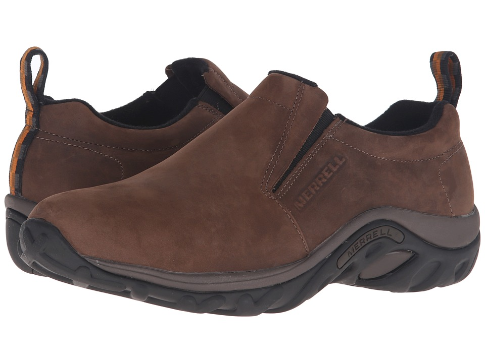 Merrell - Jungle Moc Nubuck (Brown Nubuck) Mens Slip on  Shoes