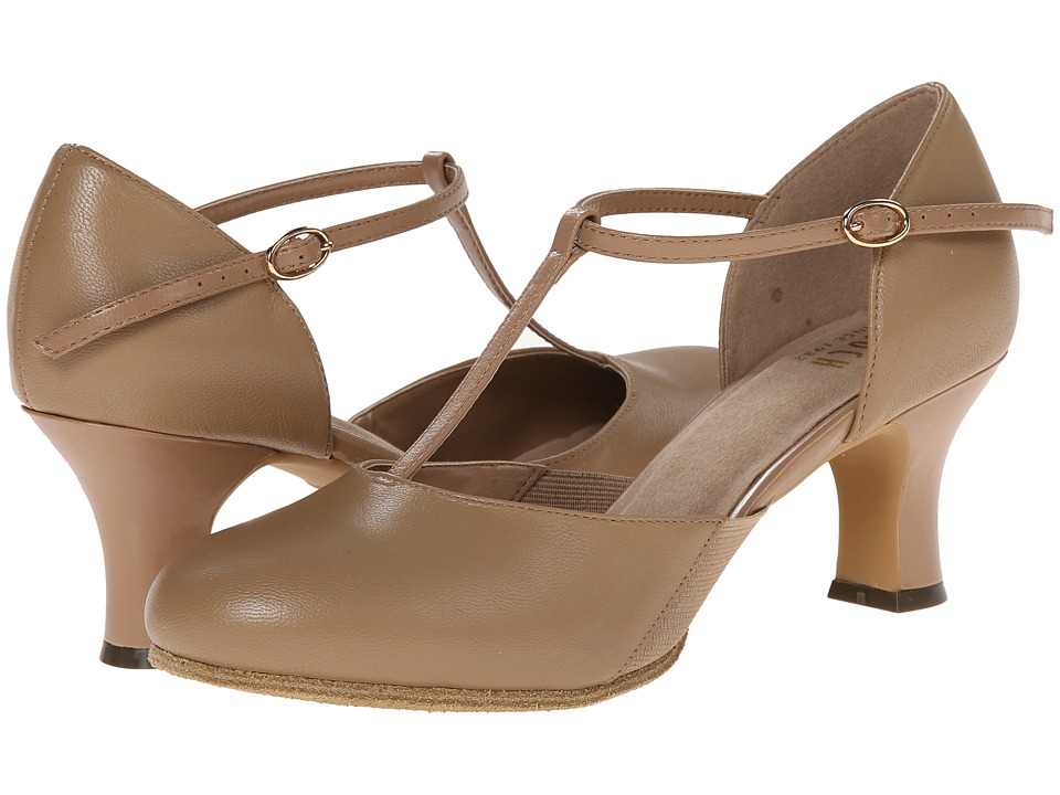 Swing Dance Shoes- Vintage, Lindy Hop, Tap, Ballroom Bloch Sfx Split Flex Tan Womens Dance Shoes $98.00 AT vintagedancer.com