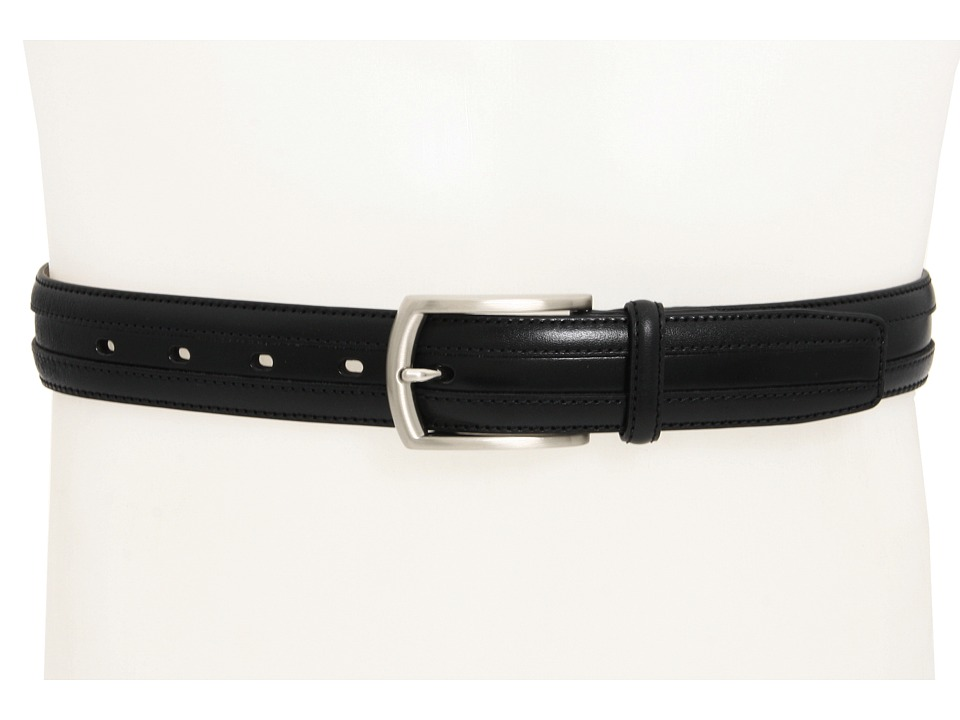 Johnston & Murphy - Double Calf Belt (Black) Mens Belts