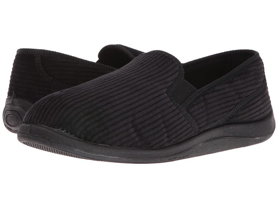 Foamtreads Ascot Charcoal Corduroy Mens Slippers