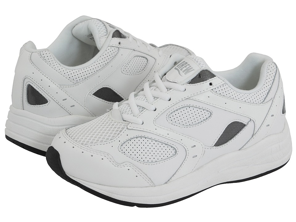Drew Flare (White/White Perf Leather/White Mesh) Walking Shoes