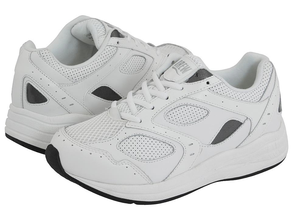 Drew Flare (White/White Perf Leather/White Mesh) Women's Walking Shoes