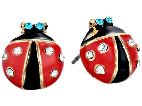 Betsey Johnson Ladybug Studs