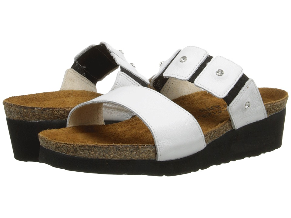 Naot Footwear Ashley (White Leather) Sandals