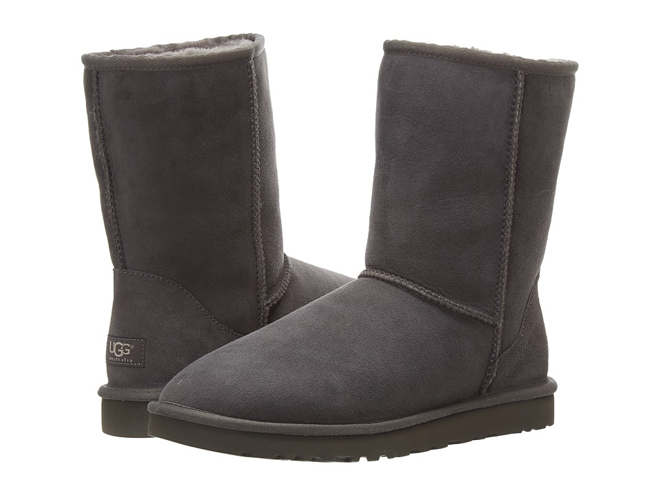 UGG Classic Short (Grey) Women's Pull-on Boots