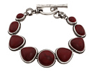 Lucky Brand - Double Fishetcheds Bracelet (Silver/Red) - Jewelry