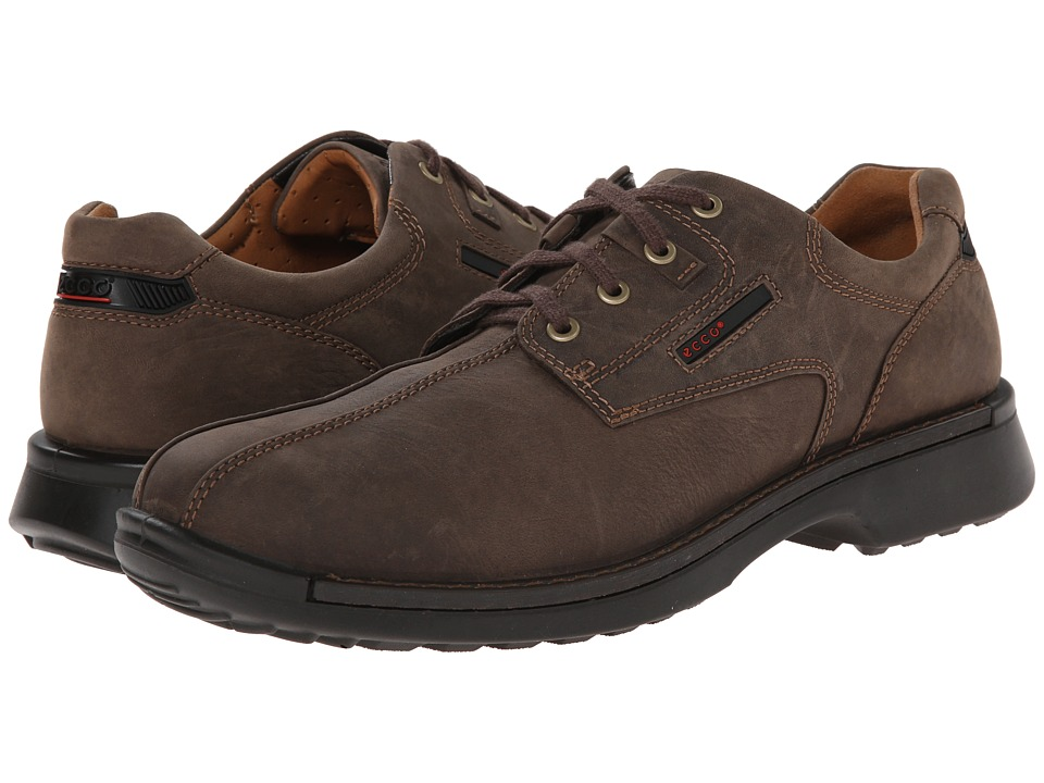 ECCO Fusion Bicycle Toe Tie (Coffee Leather) Men