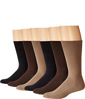 Ecco Socks - Cushion Mercerized Cotton Sock 6-Pack