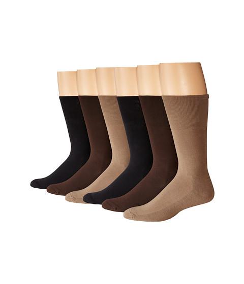 Ecco Socks Cushion Mercerized Cotton Sock 6-Pack
