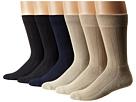 Solid Color Rib Cushion Socks 6 Pack