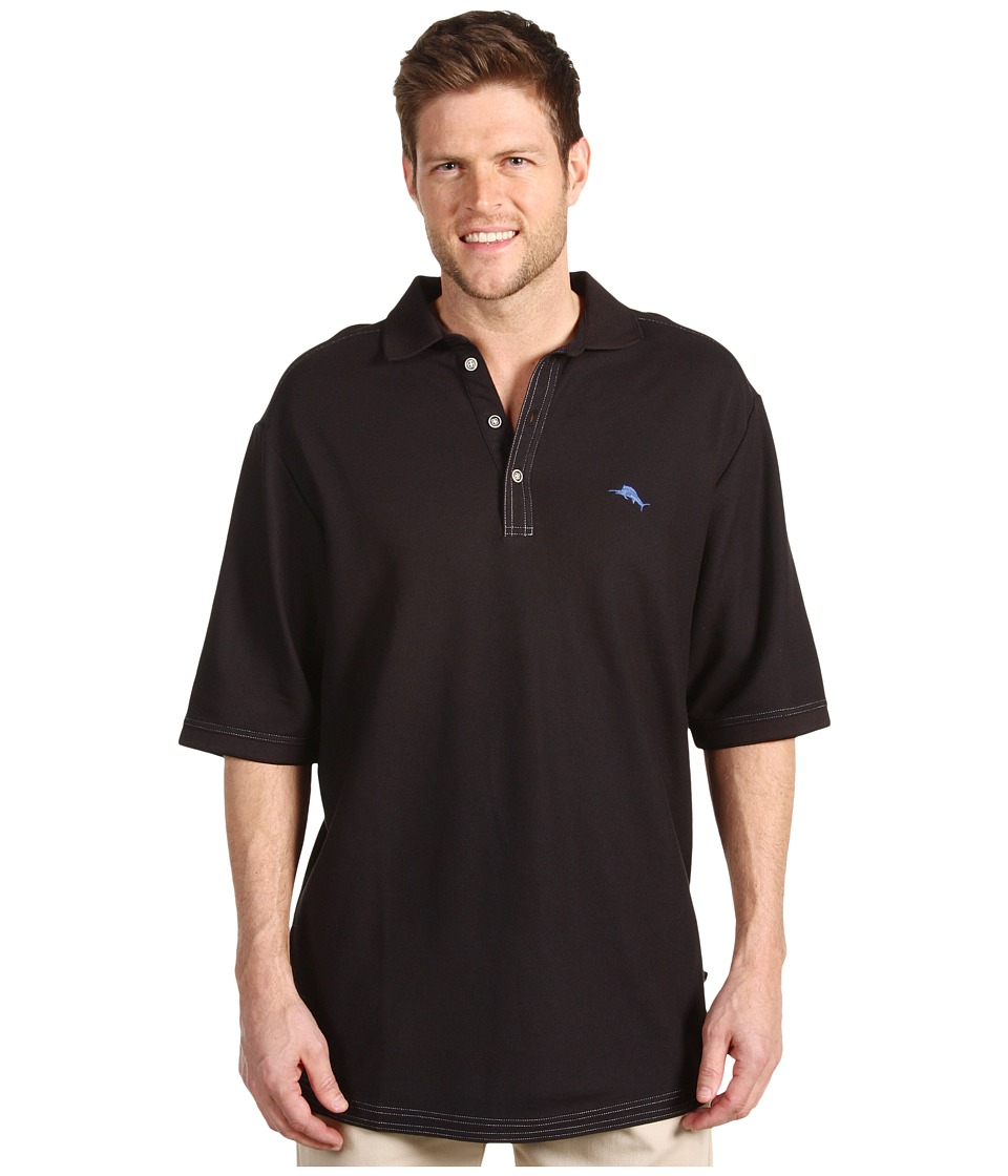 Tommy Bahama Big & Tall - Big Tall Emfielder Polo Shirt (Black) Mens Short Sleeve Pullover