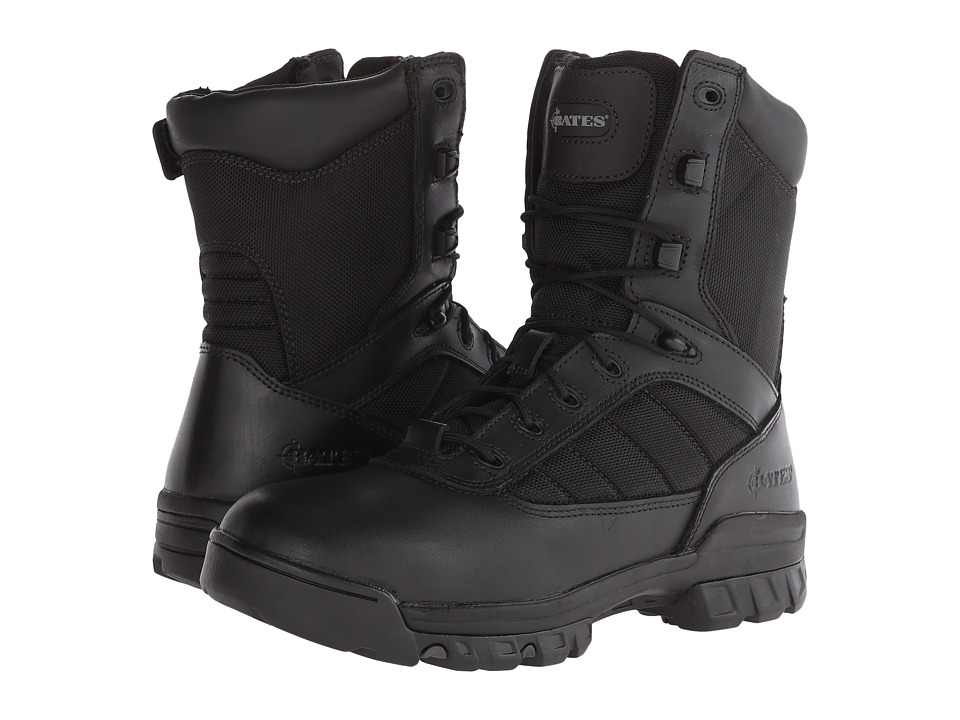 Bates Footwear - 8 Tactical Sport Side Zip (Black) Mens Work Boots