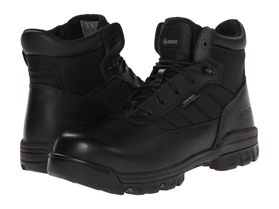 Bates Footwear - 5 Tactical Sport Composite Toe Side Zip (Black) Mens Work Boots