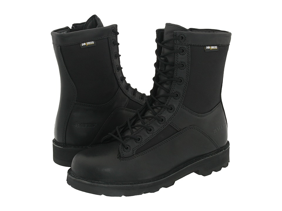 Bates Footwear - 8 Durashocks(r) Lace-To-Toe Side Zip (Black) Mens Work Boots