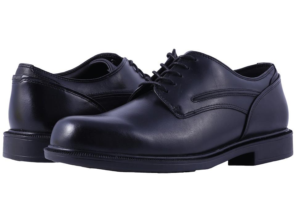 Dunham Burlington Black Mens Plain Toe Shoes