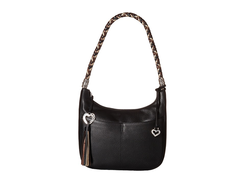 Brighton - Barbados Zip Top Hobo (Black) Handbags
