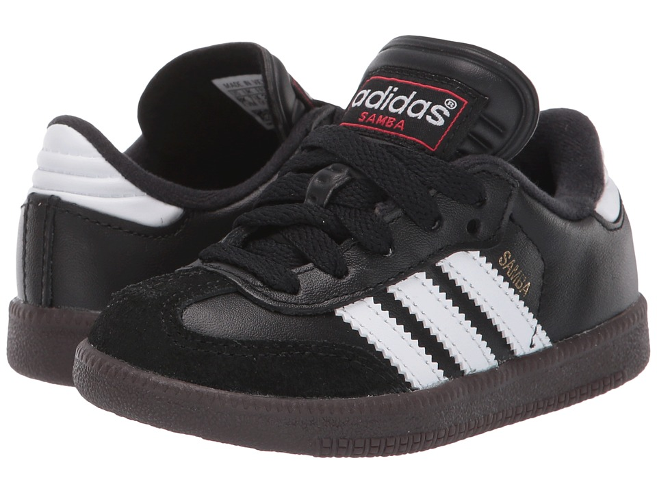 adidas Kids Samba Classic Core (Toddler/Little Kid/Big Kid) (Black/Running White) Kids Shoes
