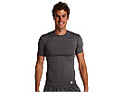 @Nike Pro Core Short Sleeve Compression Crew Carbon Heather Black Apparel Shirts Tops 269603 021 NET
