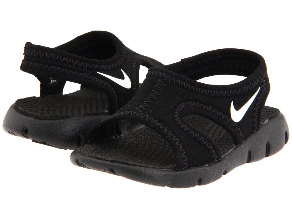 Nike Kids Sunray 9 Infant/Toddler Black/White Boys Shoes