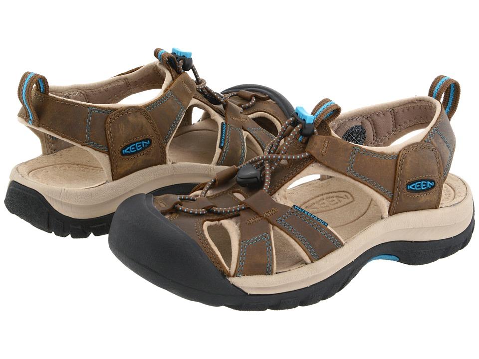 Keen Venice (Dark Earth/Carribean Sea) Sandals