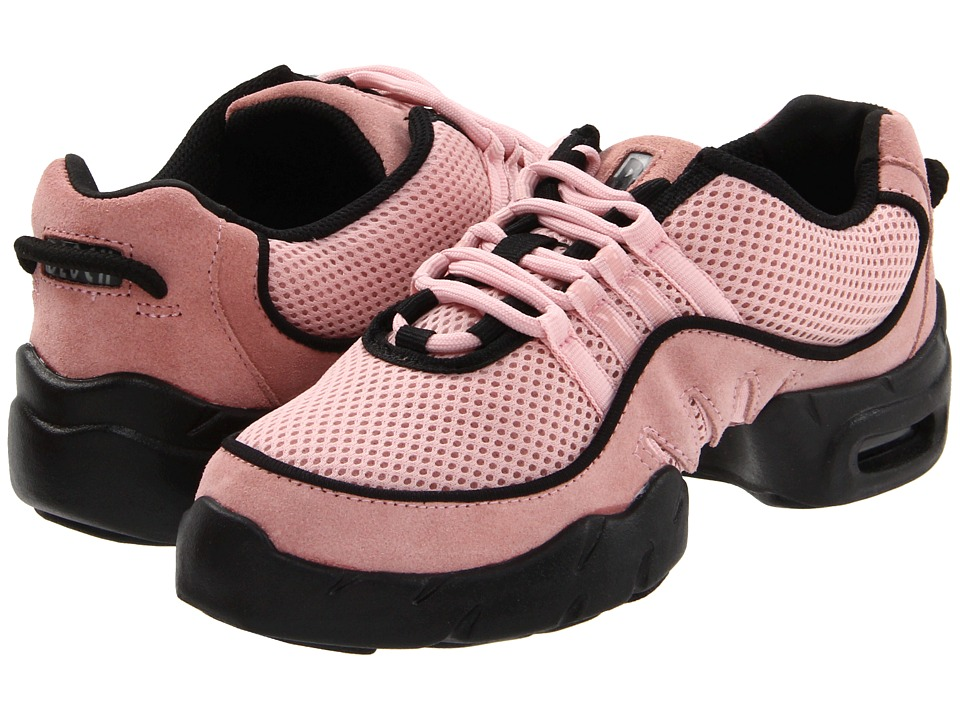 Swing Dance Shoes- Vintage, Lindy Hop, Tap, Ballroom Bloch Boost DRT Mesh Sneaker Pink Womens Dance Shoes $72.00 AT vintagedancer.com