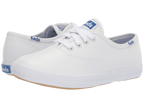 Keds Kids Original Champion CVO (Little Kid/Big Kid) - White Leather