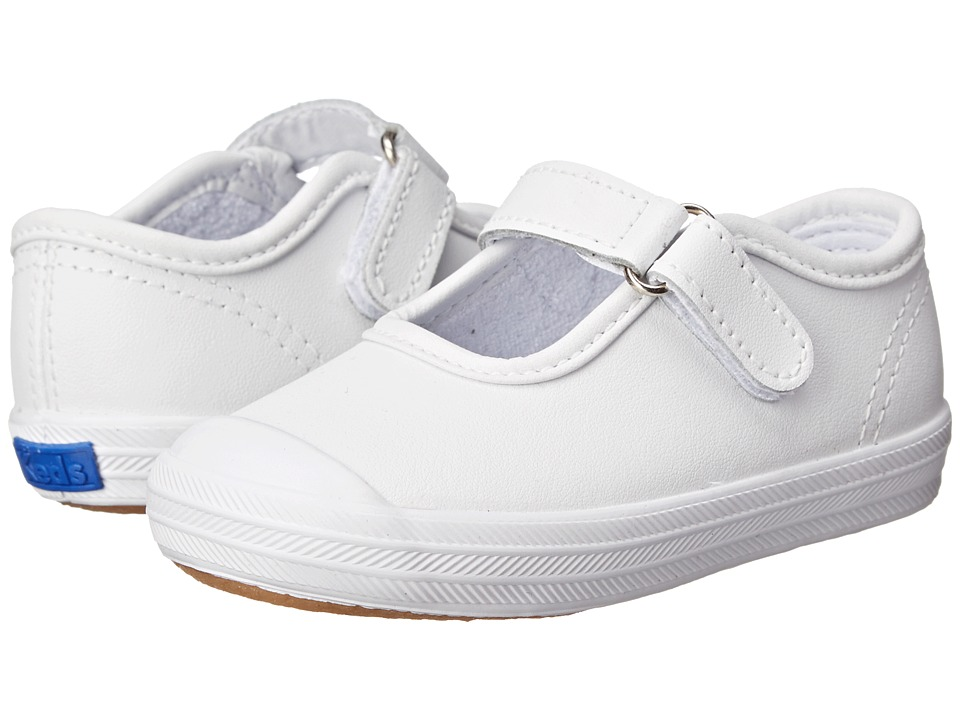 Keds Kids Champion Toe Cap Mary Jane (Infant/Toddler) (White Leather) Girls Shoes