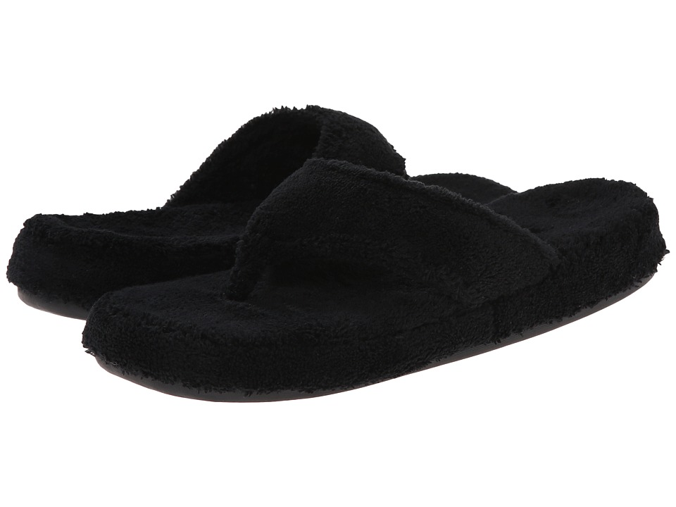 Acorn New Spa Thong (Black Fabric) Slippers