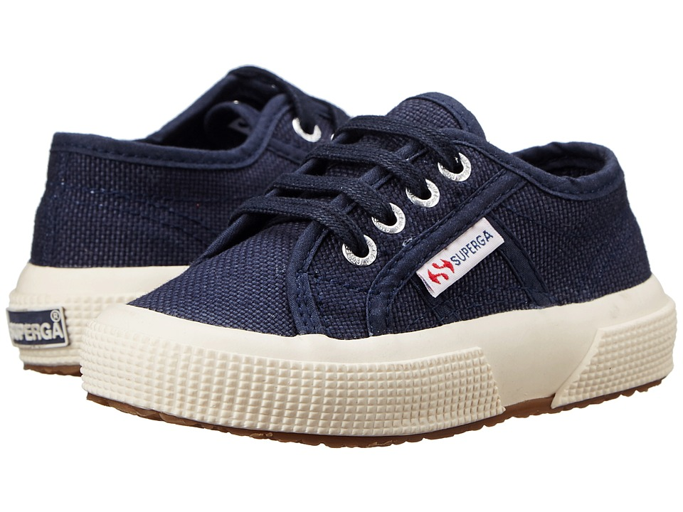 Superga Kids - 2750 JCOT Classic (Toddler/Little Kid) (Navy) Kids Shoes