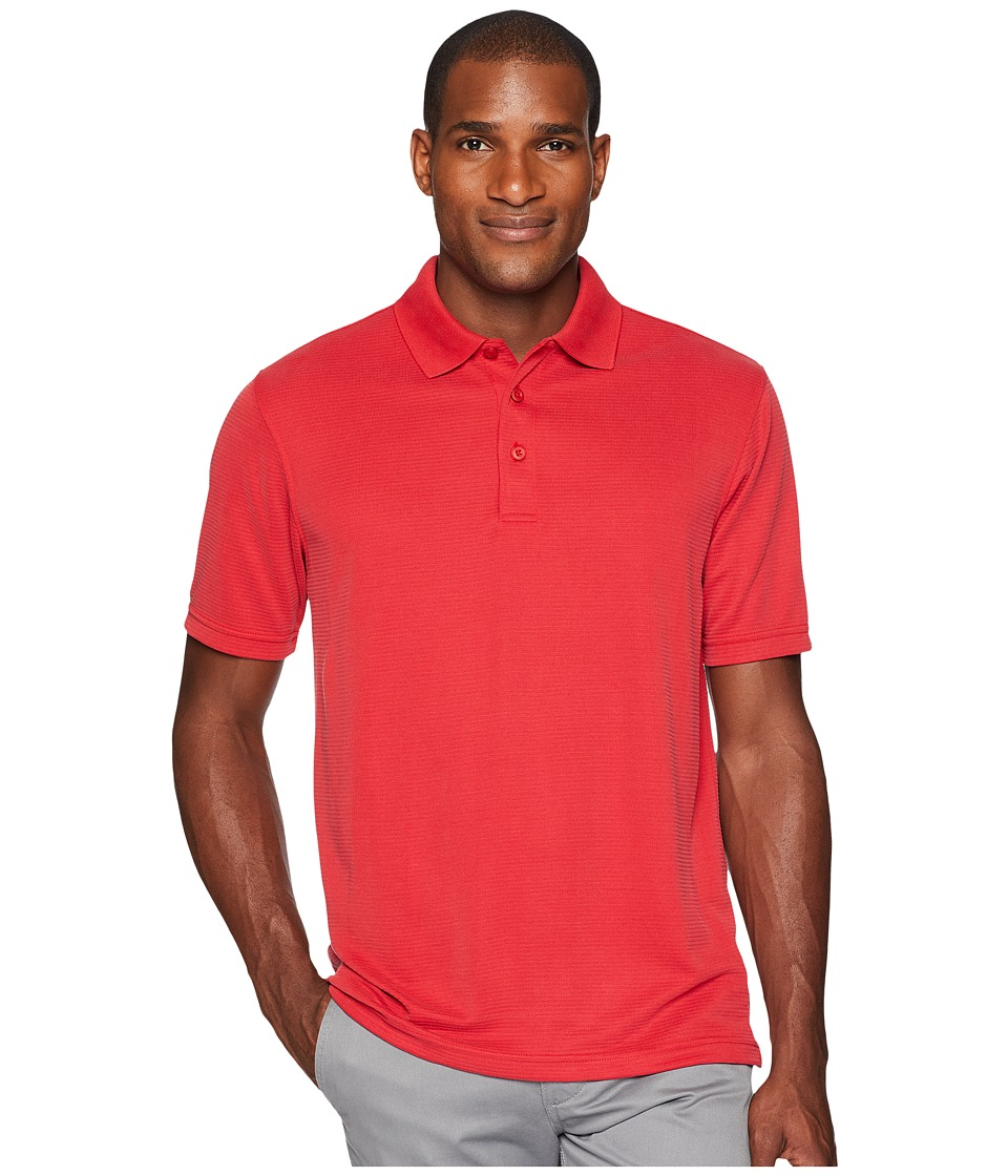 BUGATCHI - Short Sleeve Polynosic Polo (Ferrari Red) Mens Clothing
