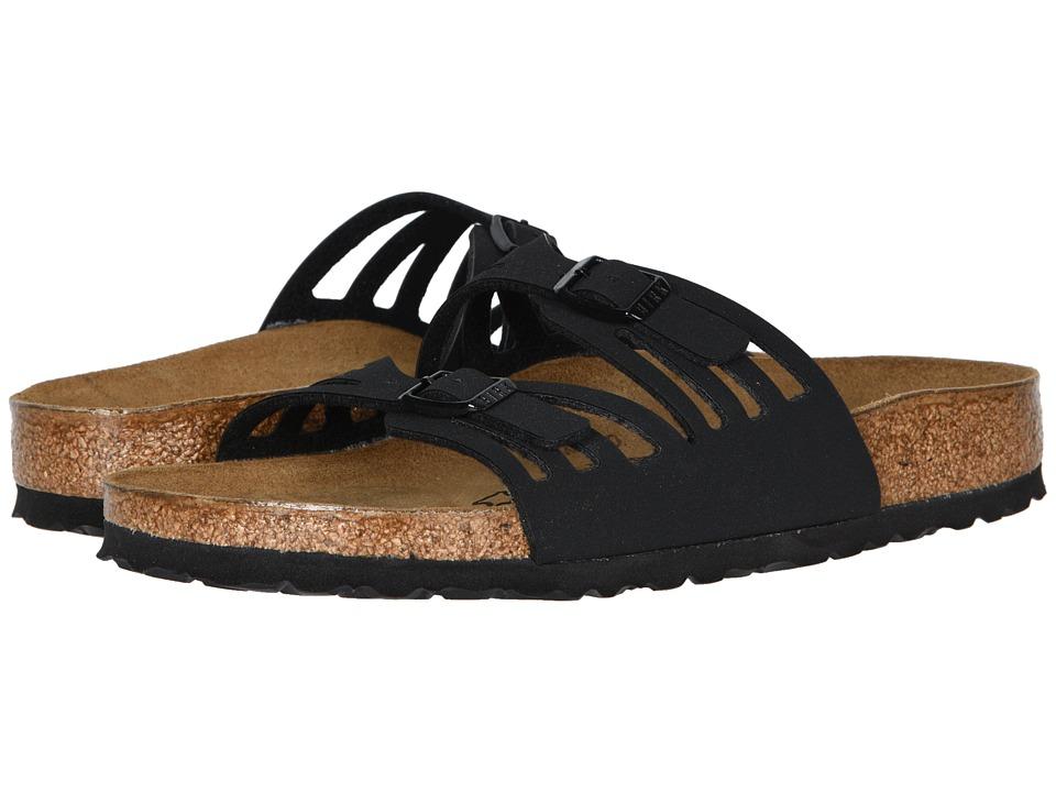 Birkenstock - Granada Birkibuctm (Black Birkibuc) Womens  Shoes
