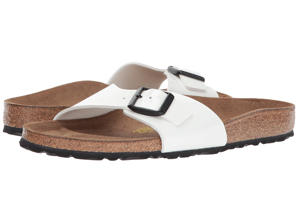 Birkenstock - Madrid Slip-On (Bright White Patent Birko-Flor) Womens Sandals
