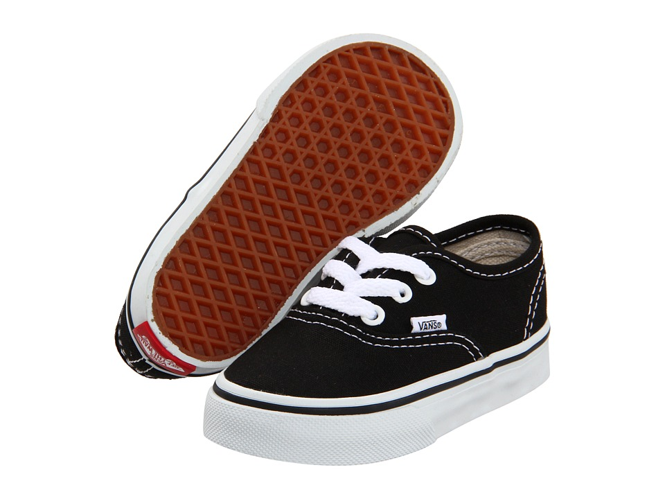 Vans Kids - Authentic Core (Toddler) (Black) Kids Shoes