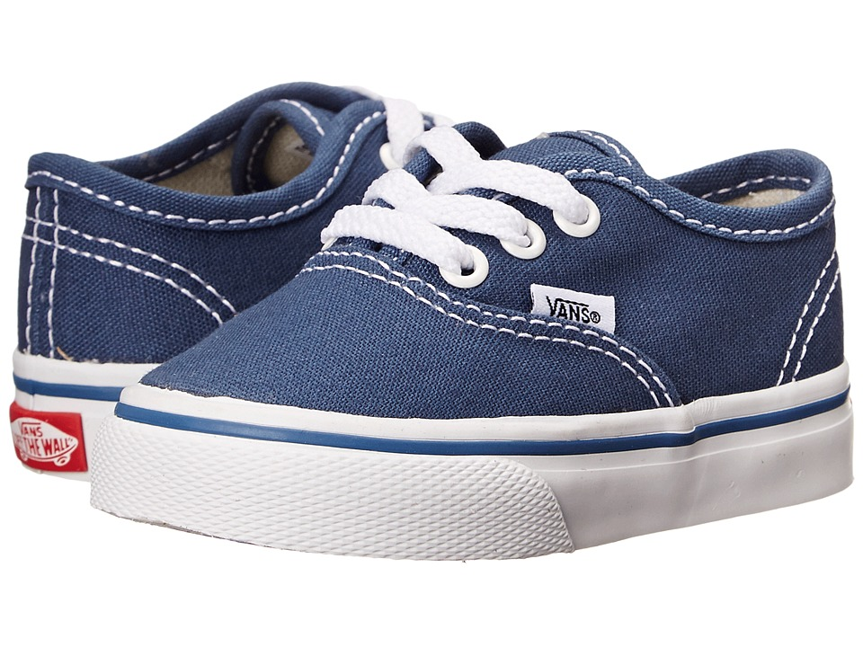 Vans Kids Authentic Core (Toddler) (Navy) Kids Shoes