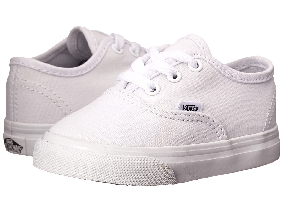 Vans Kids Authentic Core Toddler True White Kids Shoes