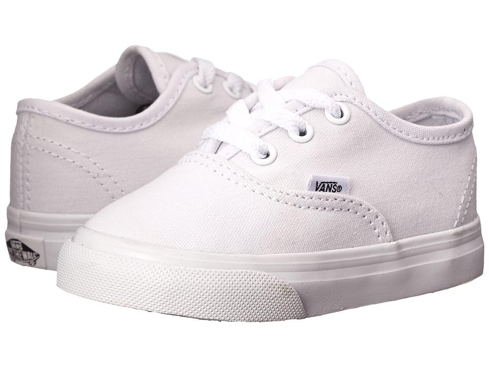 Vans Kids Authentic Core (Toddler) (True White) Kids Shoes