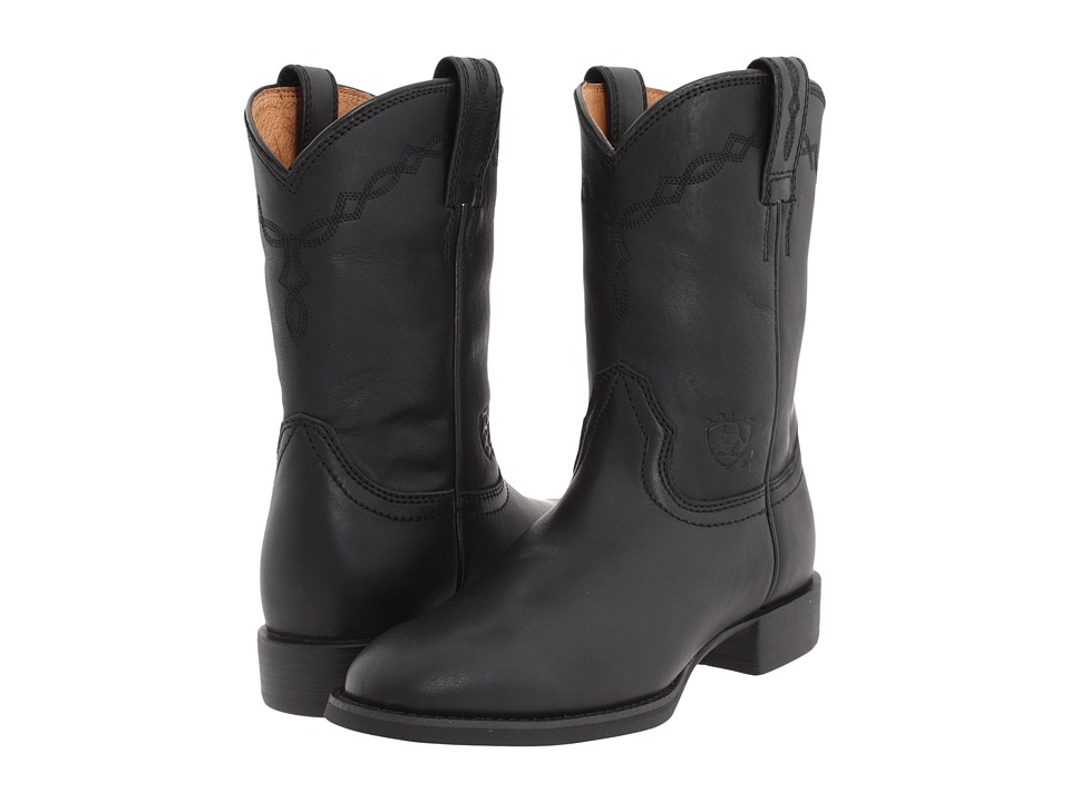 Ariat - Heritage Roper (Black) Cowboy Boots