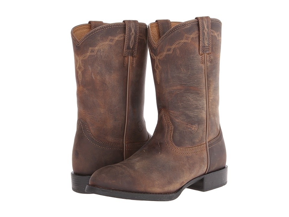 Ariat - Heritage Roper (Distressed Brown) Cowboy Boots