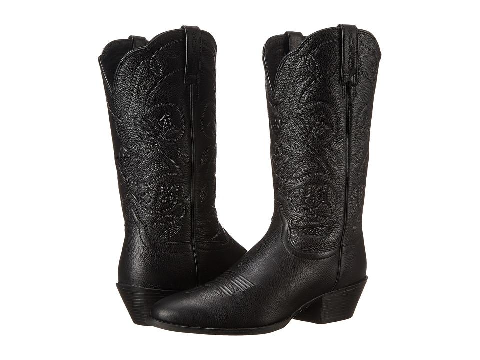 Ariat Heritage Western R-toe (Black Deertan) Western Boots
