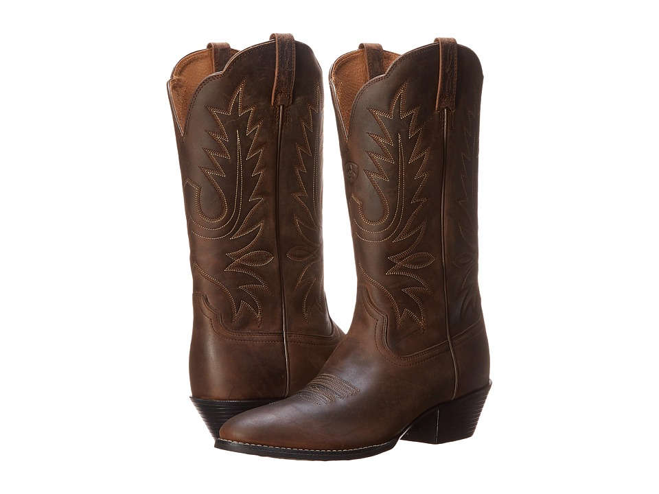Ariat - Heritage Western R Toe (Distressed Brown) Womens Boots
