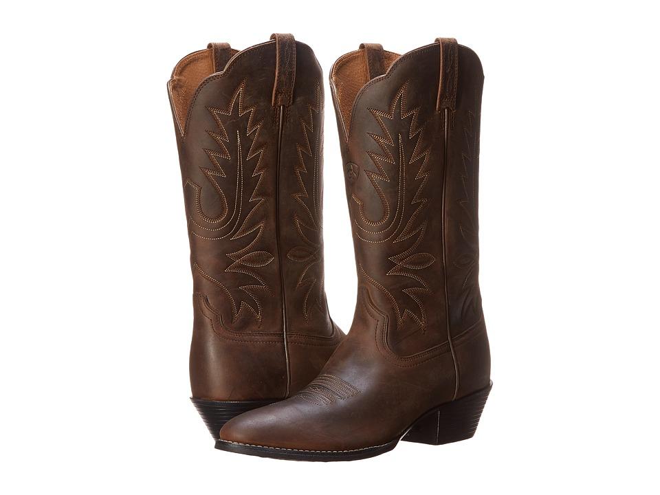 Ariat Heritage Western R Toe (Distressed Brown) Women's B...