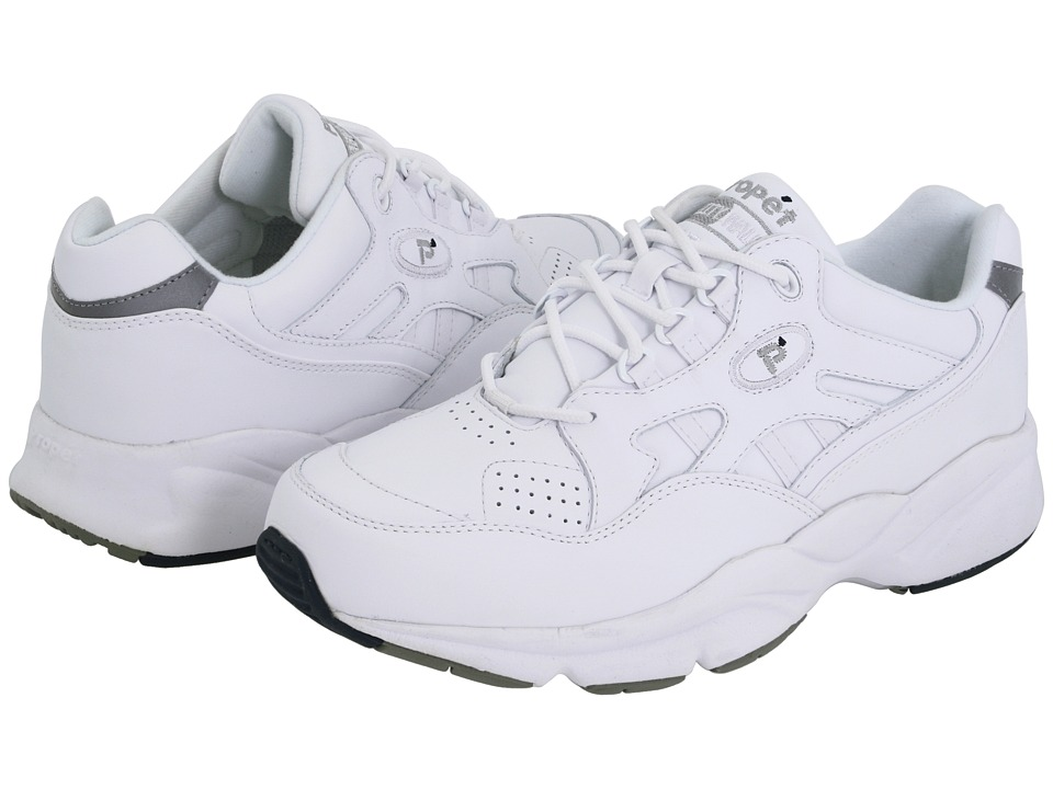Propet - Stability Walker Medicare/HCPCS Code = A5500 Diabetic Shoe (White Leather) Men