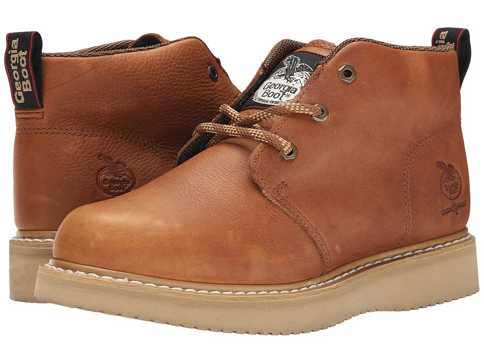 Georgia Boot - Chukka Wedge (Baraccuda Gold) Mens Work Boots