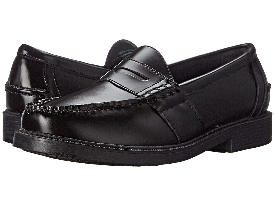 Nunn Bush - Lincoln Penny Loafer (Black Polished Leather) Mens Slip-on Dress Shoes