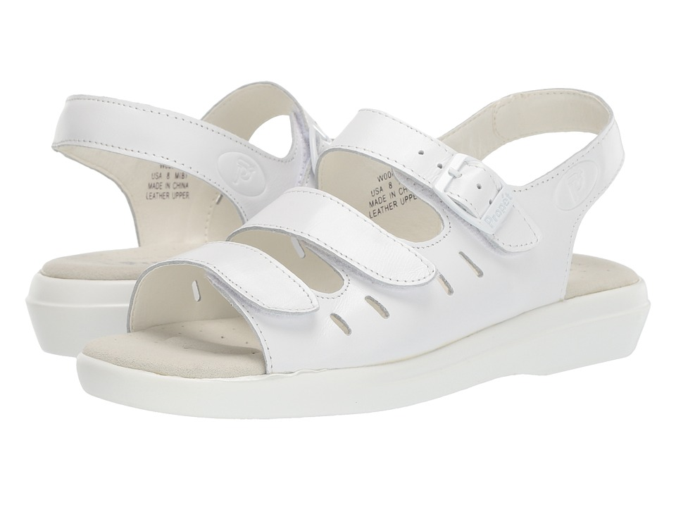 Propet Breeze Walker (White Grain) Women's Shoes
