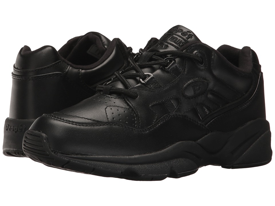 Propet Stability Walker Medicare/HCPCS Code = A5500 Diabetic Shoe (Black Leather) Walking Shoes