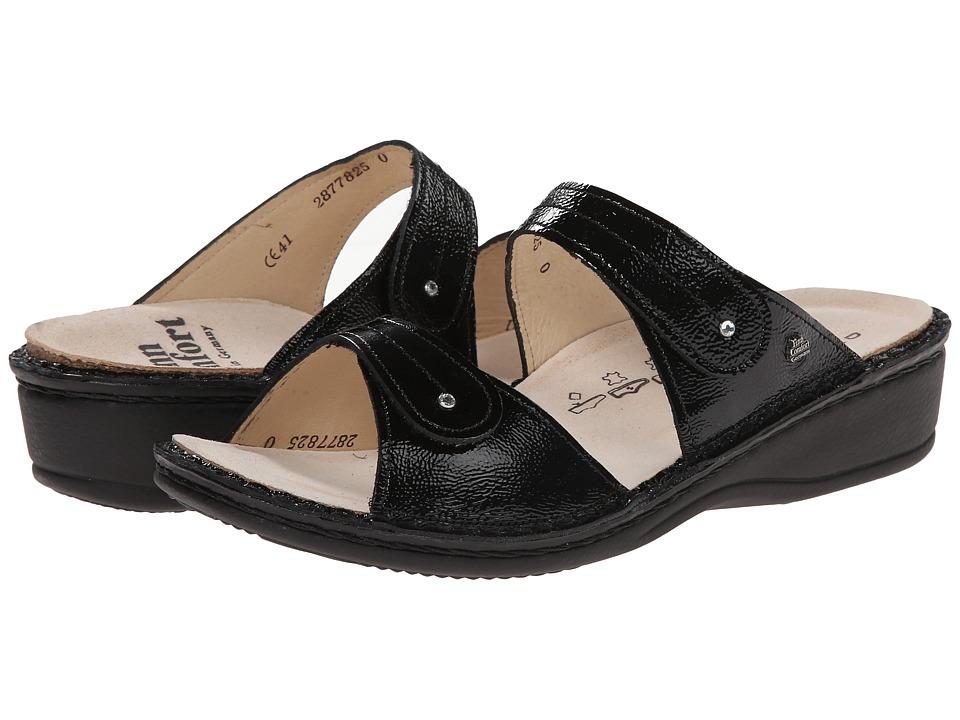 Finn Comfort Catalina - 2538 (Black Patent Soft Footbed) ...