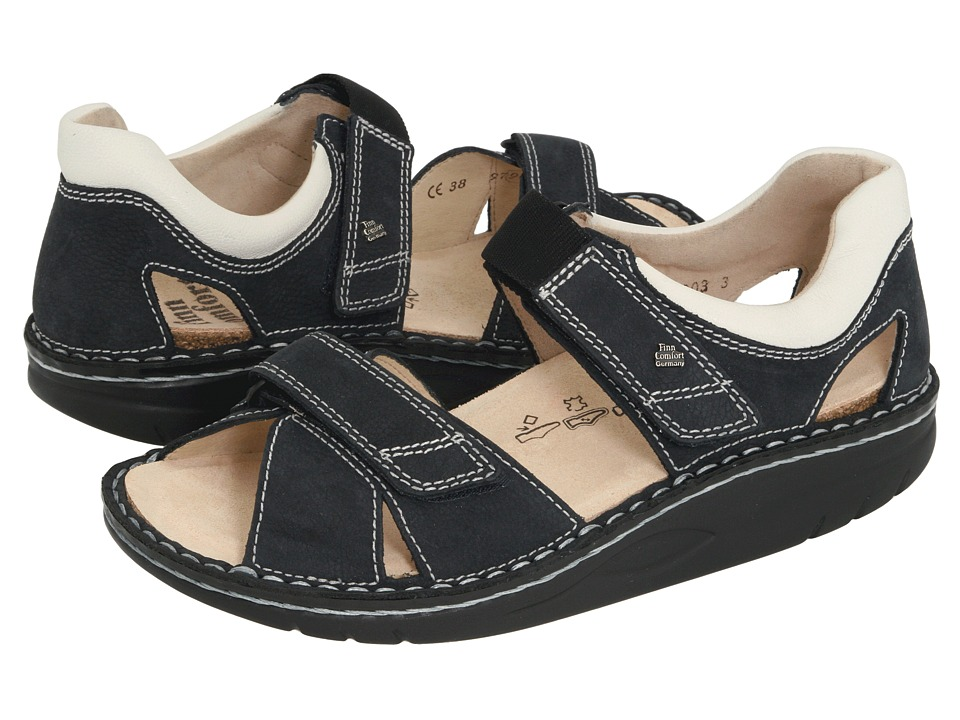 Finn Comfort Samara 1560 (Navy/Jasmin) Sandals